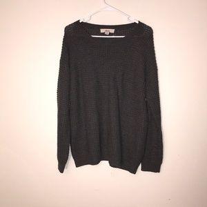 Gray oversized sweater